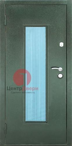 Стальная дверь с ковкой и стеклом СК1