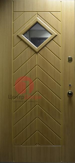 Стальная дверь с ковкой и стеклом СК19
