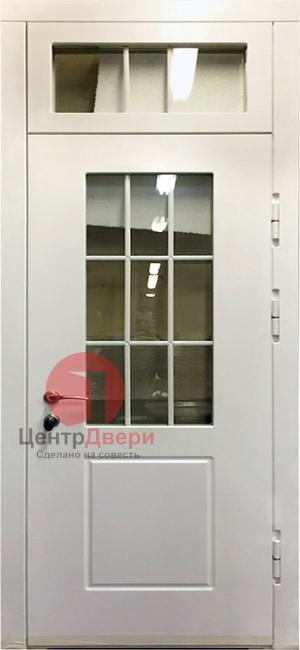 Стальная дверь с ковкой и стеклом СК33