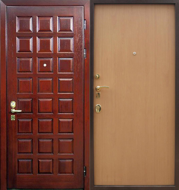 металлические двери двойные обшитые